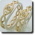 DNA螺旋模様マリッジリング